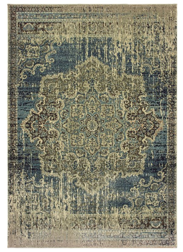 Oriental Weavers Raleigh 6649h Blue Collection