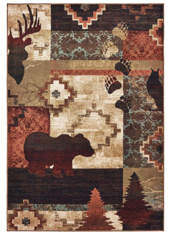 Oriental Weavers Woodlands 9649a Brown Collection