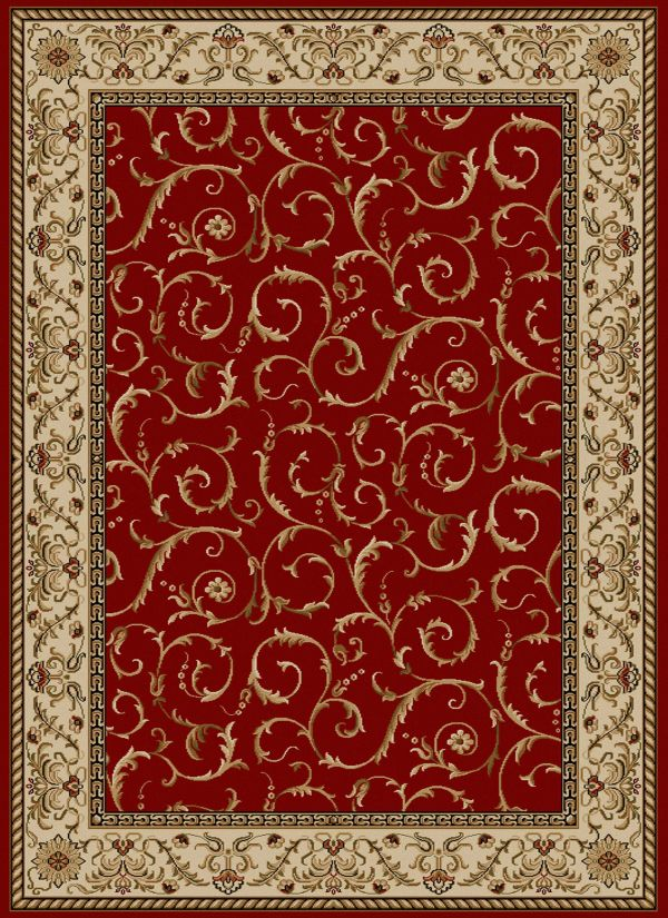 "Radici USA Como 1599 Red 2'2"" x 7'7"" Runner Collection"
