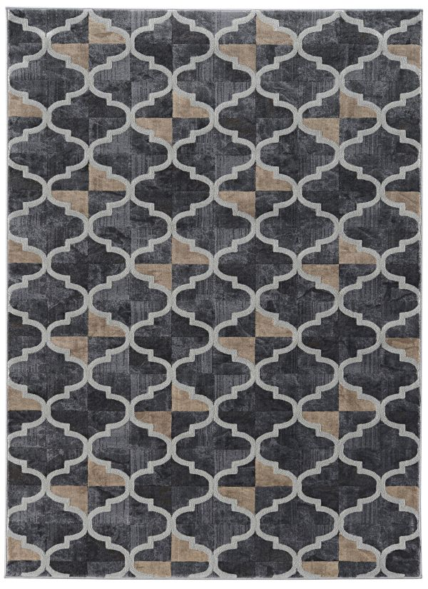"Radici USA Iseo 3793 Grey 5'0"" x 5'0"" Round Collection"