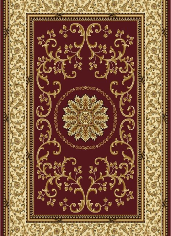 "Radici USA Noble 1419 Burgundy 2'2"" x 8'0"" Runner Collection"