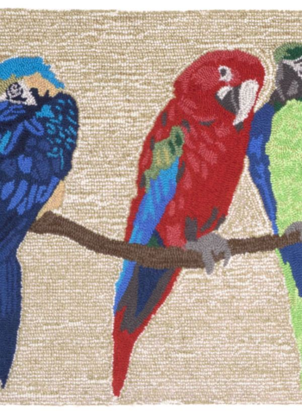 Liora Manne Frontporch Parrots Natural Collection