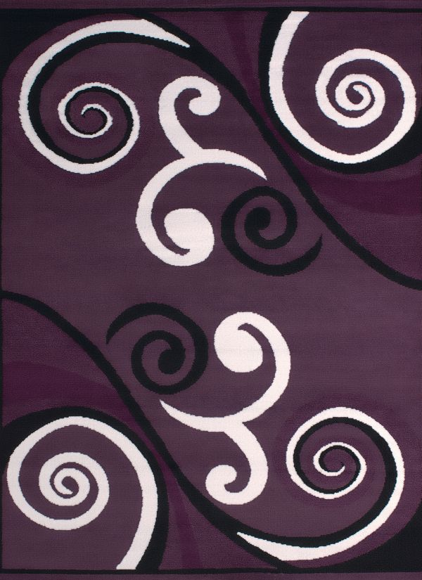 United Weavers Dallas Contemporary/Modern Plum Collection