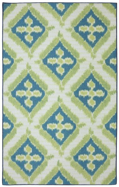 Mohawk Printed Indoor/Outdoor Summer Splash Turquoise Lime Collection