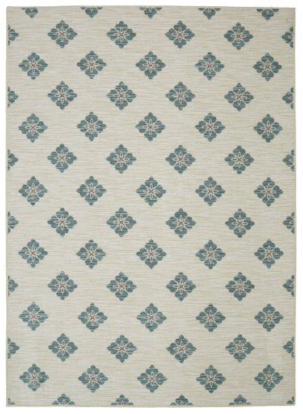 Mohawk Woodbridge Button Fleur Aqua Collection