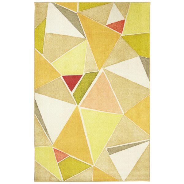 Mohawk Prismatic Modern Angles Yellow Multi Collection