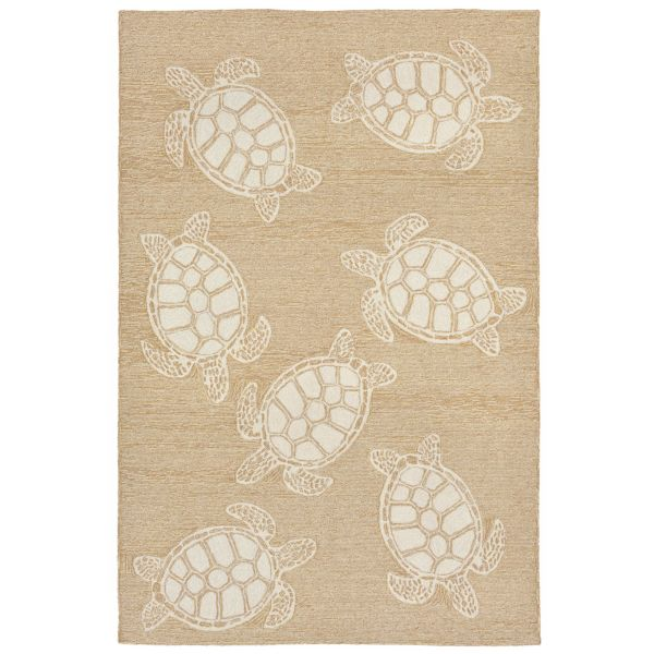 Liora Manne Capri Turtle Natural Collection