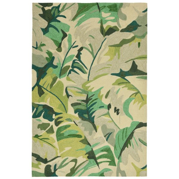 Liora Manne Capri Palm Leaf Green Collection