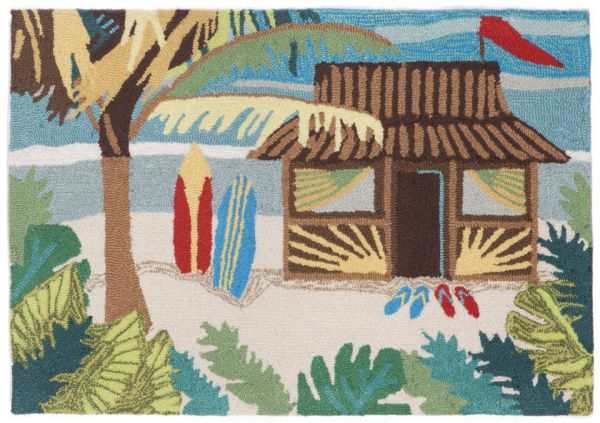 Liora Manne Frontporch Tiki Hut Multi Collection