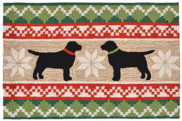 Liora Manne Frontporch Nordic Dogs Natural Collection