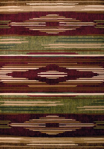 United Weavers Contours Native Chic Burgundy Collection