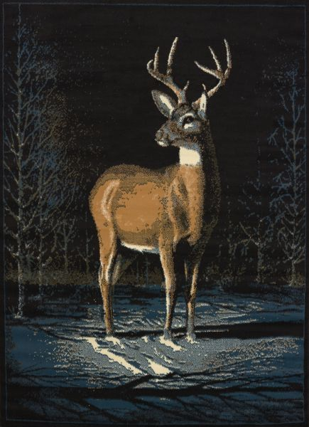 "United Weavers Legends Winter Buck Multi 5'3"" x 7'2"" Collection"