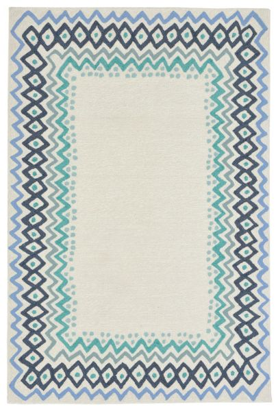 Liora Manne Capri Ethnic Border Blue Collection