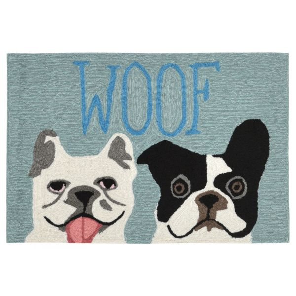 Liora Manne Frontporch Le Woof Blue Collection