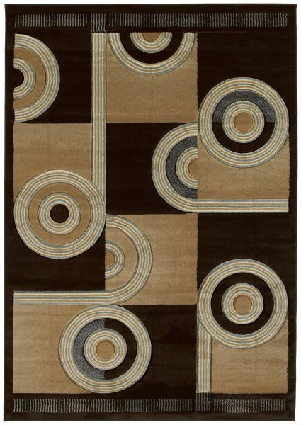 United Weavers Contours Spiral Canvas Chocolate Collection