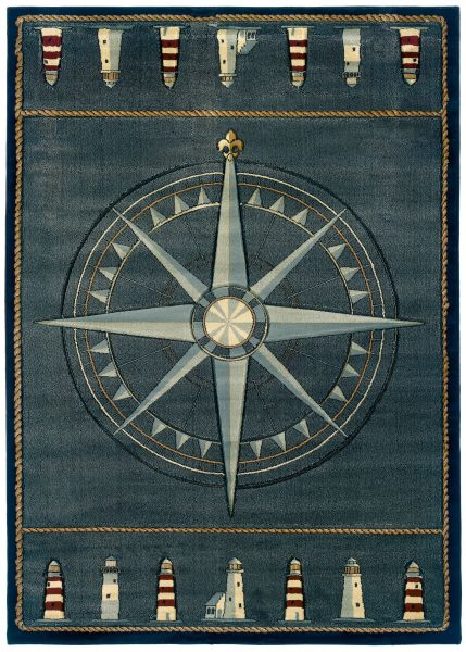 United Weavers Contours Compass Rose Smoke Blue Collection