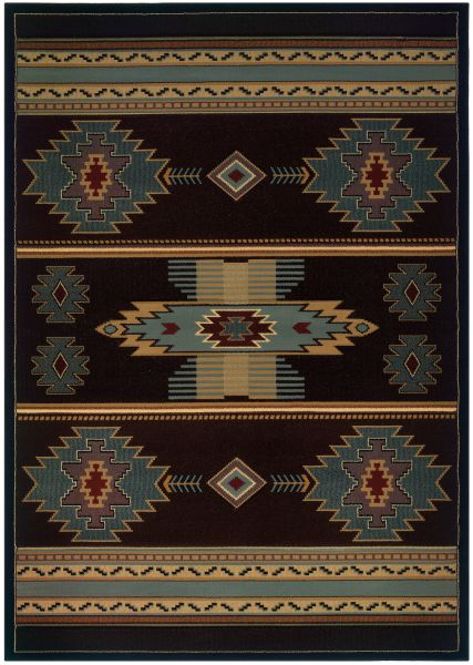 United Weavers Designer Contours Cem Native Canvas Smoke Blue Collection