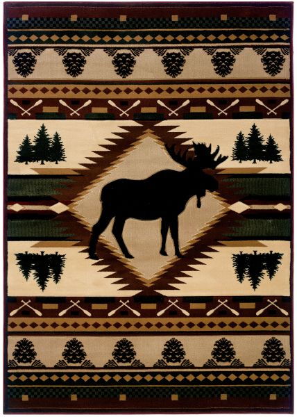 United Weavers Designer Contours John Q. Moose Wilderness Toffee Collection