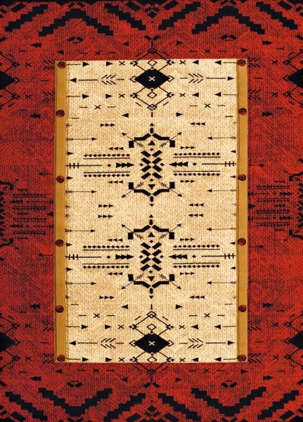United Weavers Designer Contours Made True Arrow Pattern Terracotta Collection