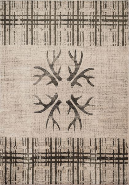 United Weavers Designer Contours Made True Antler's & Stripes Grey Collection