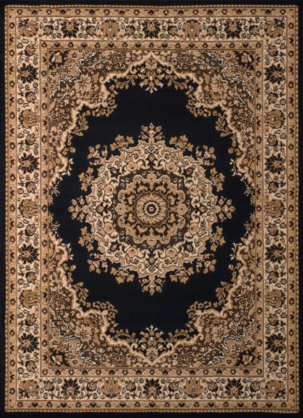 United Weavers Dallas Floral Kirman Black Collection