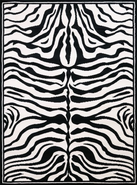 "United Weavers Legends Zebra Skin Multi 5'3"" x 7'2"" Collection"
