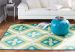 Mohawk Printed Indoor/Outdoor Summer Splash Turquoise Lime Room Scene
