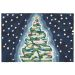Liora Manne Frontporch Xmas Tree Navy Collection