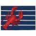 Liora Manne Frontporch Lobster on Stripes Navy Collection