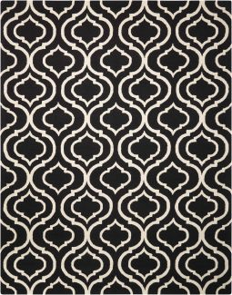 Nourison Linear Black/White