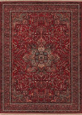 Couristan Kashimar All Over Center Medallion Antique Red