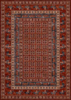 Couristan Old World Classic Pazyrk Antique Red