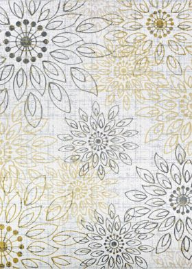 Couristan Calinda Summer Bliss Gold/Silver/Ivory