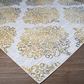 Couristan Calinda Montebello Gold/Silver/Ivory