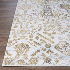 Couristan Calinda Marlowe Gold/Silver/Ivory