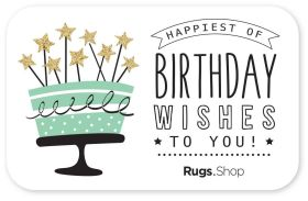 Happy Birthday Wishes Gift Card
