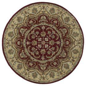 Kaleen Tara Rounds Collection Burgundy