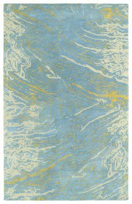 Kaleen Brushstrokes Collection Blue