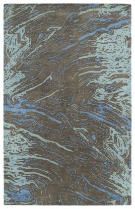 Kaleen Brushstrokes Collection Chocolate