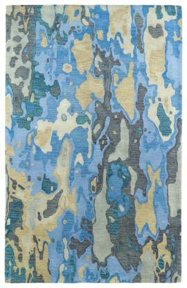 Kaleen Brushstrokes Collection Blue