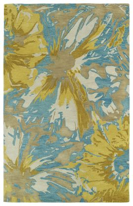 Kaleen Brushstrokes Collection Gold
