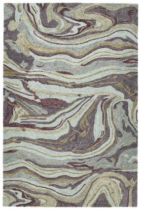 Kaleen Marble Collection Aubergine