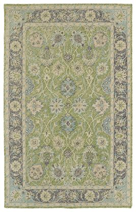 Kaleen Weathered Collection Lime Green
