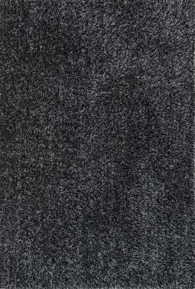 "Loloi Carrera Shag CG-02 BLACK / SLATE 1'6"" x 1'6"""