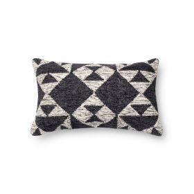 "Loloi Pillows P0098 CHARCOAL / IVORY 1'1"" x 1'9"""