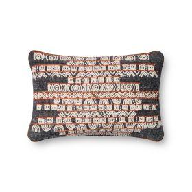"Loloi Pillows P0378 BLUE / RUST 1'1"" x 1'9"""