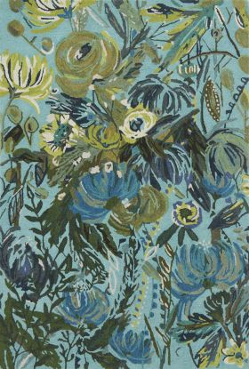 Loloi Wild Bloom WV-03 AQUA / GREEN