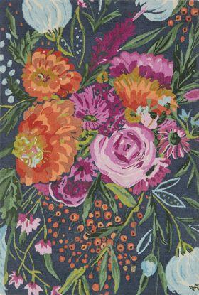 Loloi Wild Bloom WV-04 MIDNIGHT / PLUM