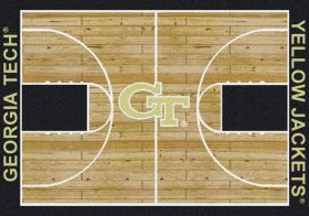 "Milliken College Home Court Georgia Tech Multi 3'10"" x 5'4"""