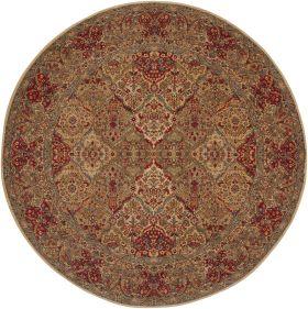 "Karastan Rugs Original Karastan Empress Kirman Multi 8'8"" x 8'8"" Round"